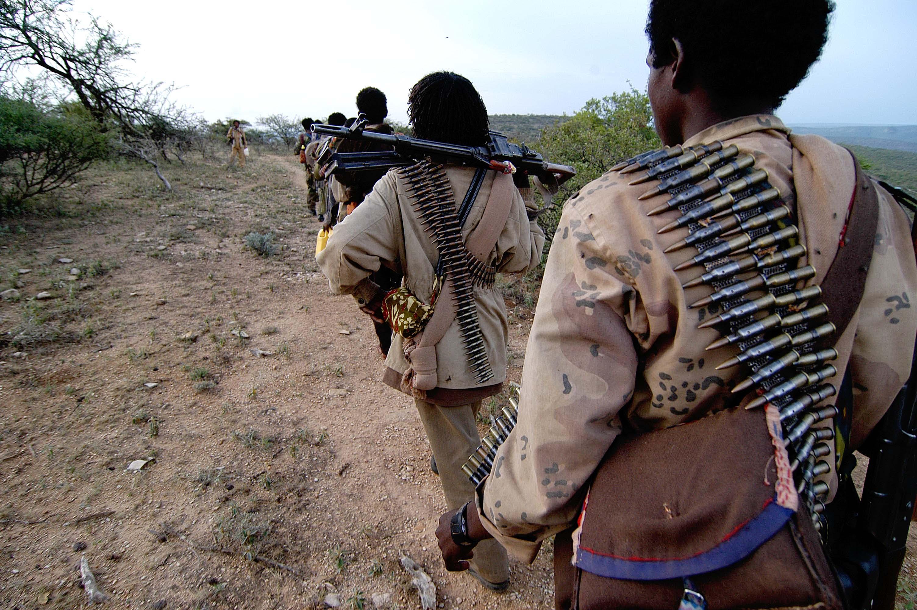 Rebel fighters in Ethiopia, 2006. Photo by Jonathan Alpeyrie, via Wikimedia.