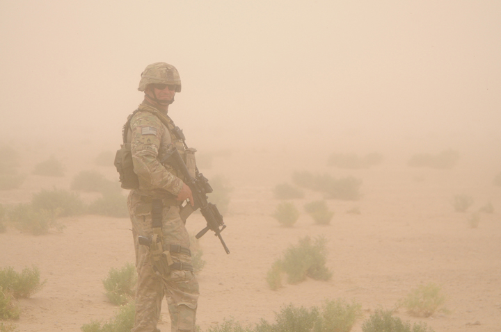 US Army soldier in Afghanistan. US Navy photo by Lt. Benjamin Addison, via ISAF Media.