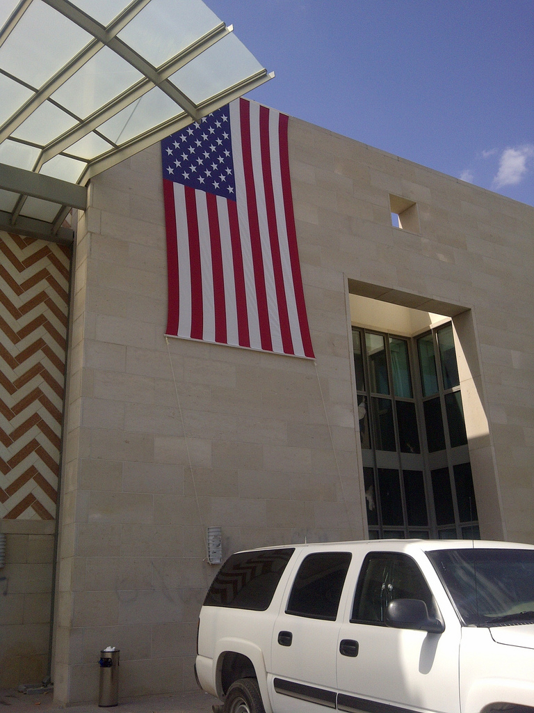 The American Embassy in Tunis, Saturday. Photo by the US State Department.