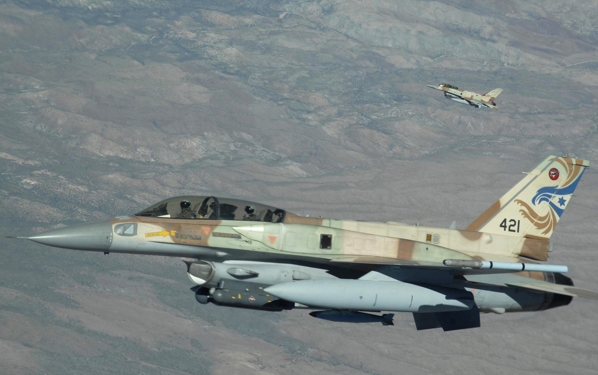 Israeli strike aircraft. USAF photo by Master Sergeant Kevin J. Gruenwald, via Wikimedia.