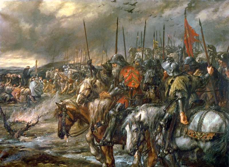 Sir John Gilbert, Morning of the Battle of Agincourt. Via Wikimedia.