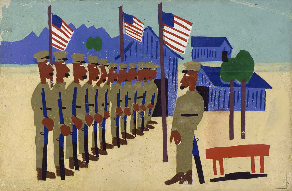 "William H. Johnson, ""Training for War."" Via the Smithsonian Institute"