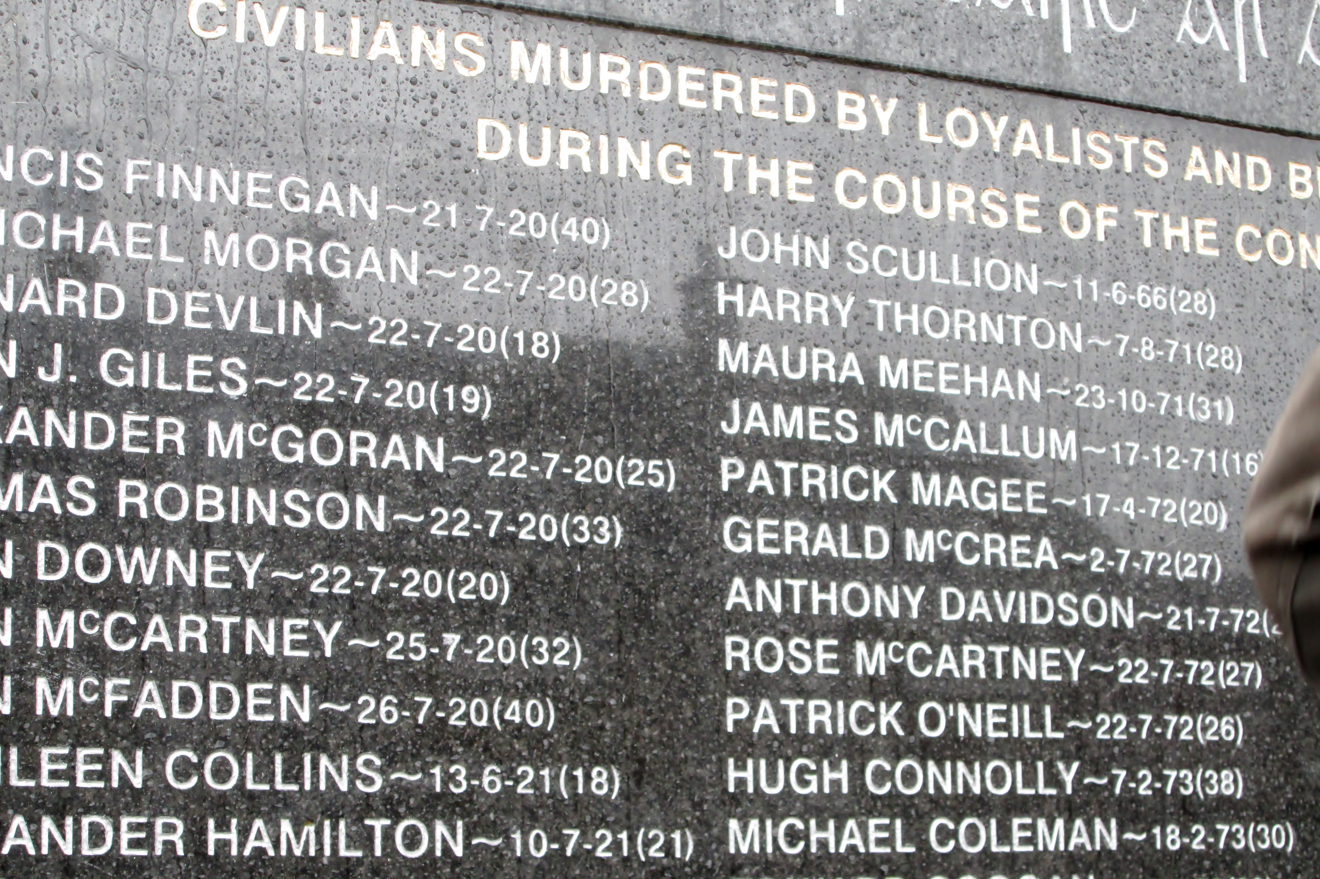 A memorial in Belfast to victims of terrorism. By Ins1122.