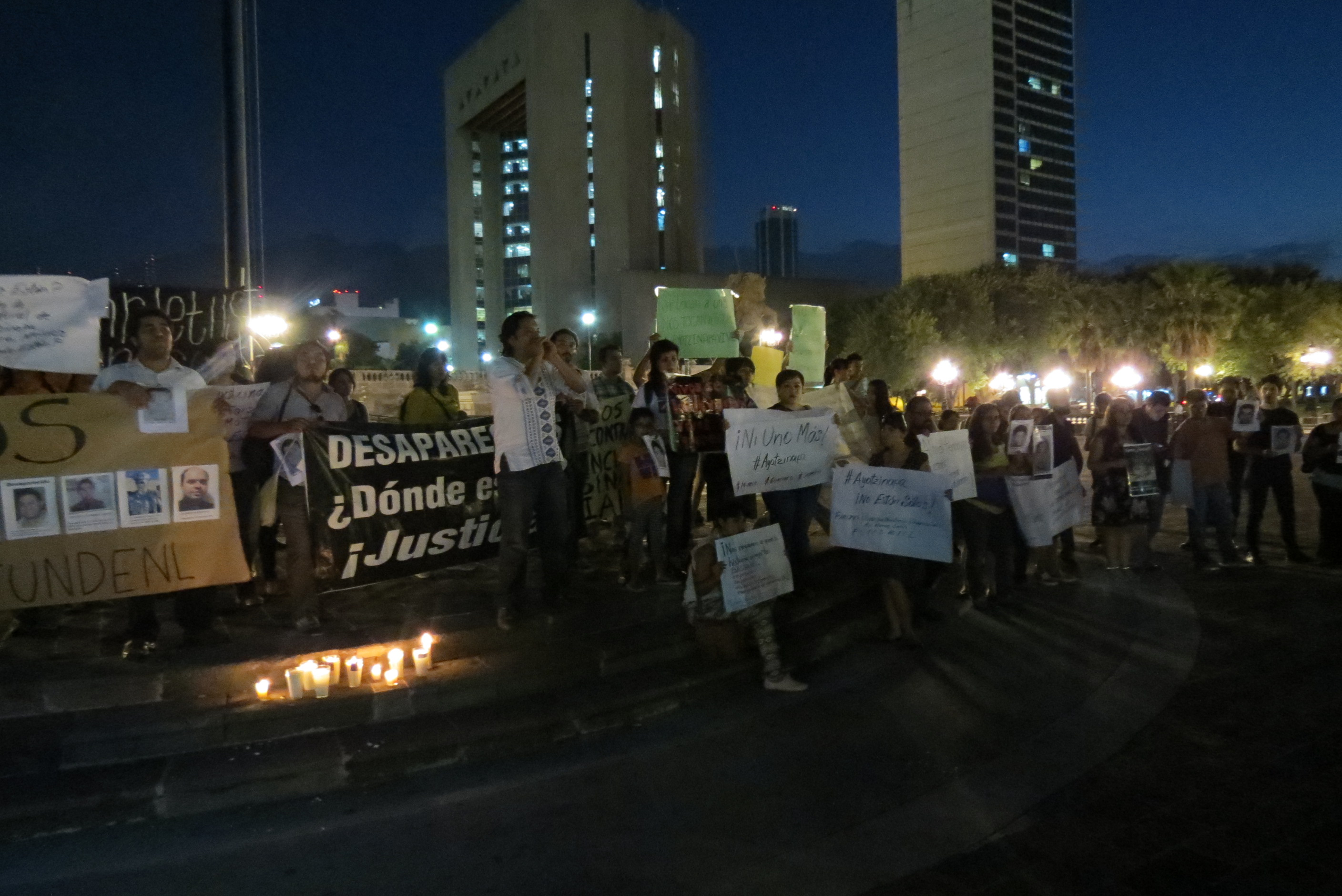 In October, Mexicans protest the disappearance of 43 aspiring teachers. By Realidad Expuesta.