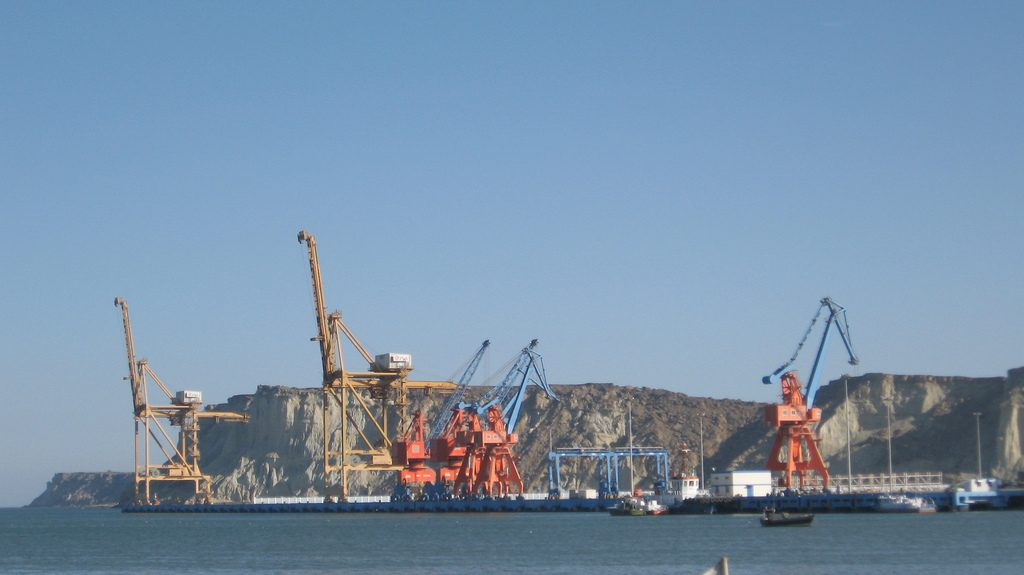 The Pakistani port at Gwadar. The China-Pakistan Economic Corridor (CPEC) plans to link the western Chinese city of Kashgar to the port. Photo via Moign Khawaja.