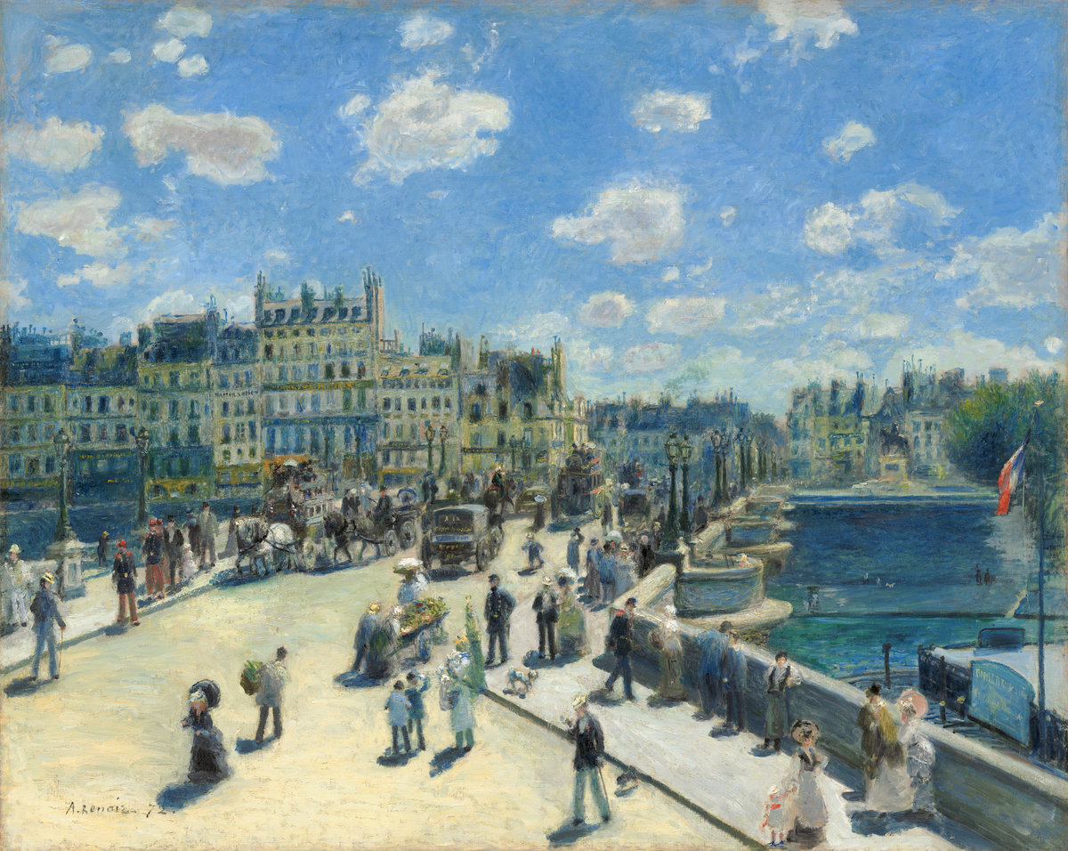 Auguste Renoir (French, 1841 - 1919 ), Pont Neuf, Paris, 1872, oil on canvas, Ailsa Mellon Bruce Collection