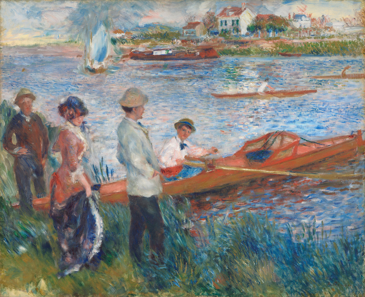 Auguste Renoir (French, 1841 - 1919 ), Oarsmen at Chatou, 1879, oil on canvas, Gift of Sam A. Lewisohn