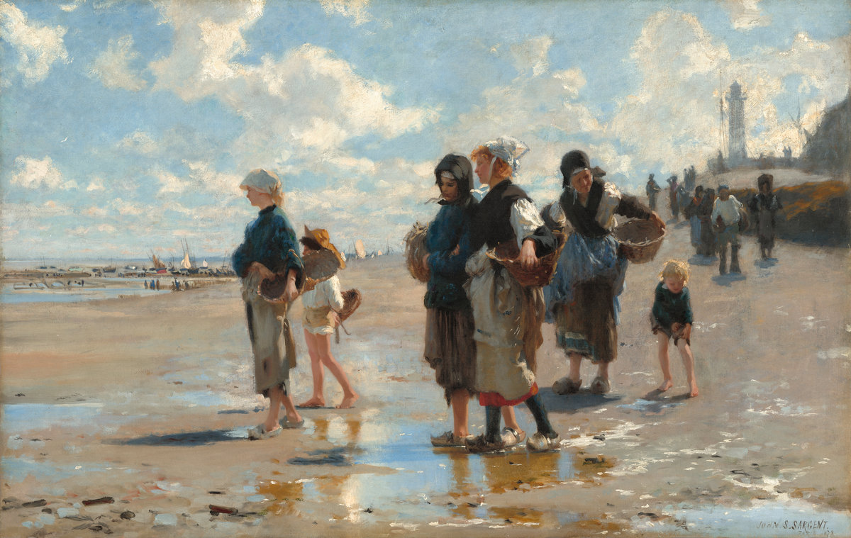 John Singer Sargent (American, 1856 - 1925 ), En route pour la pêche (Setting Out to Fish), 1878, oil on canvas, Corcoran Collection (Museum Purchase, Gallery Fund; Frame: Gift of the Women's Committee of the Corcoran Gallery of Art) 2014.79.32