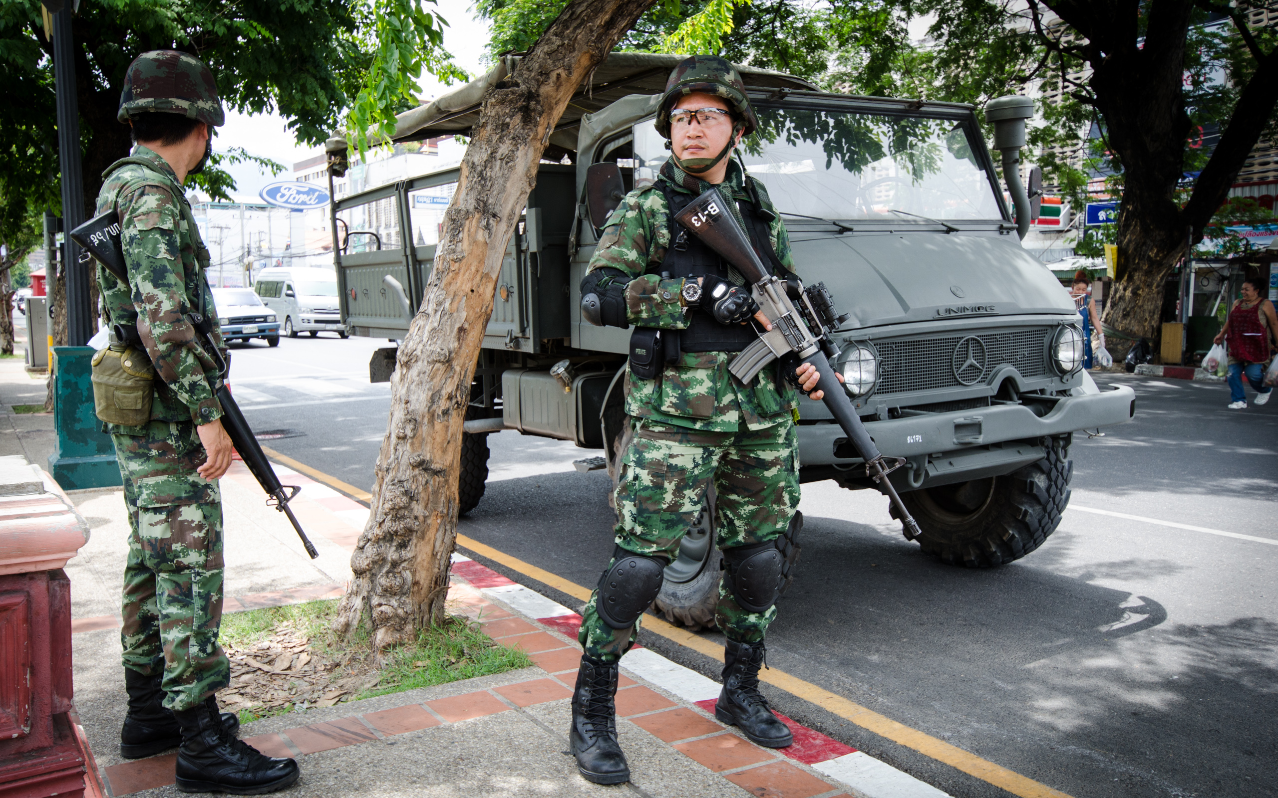 Thai military in Chiang Mai. Photo courtesy of Takeaway.