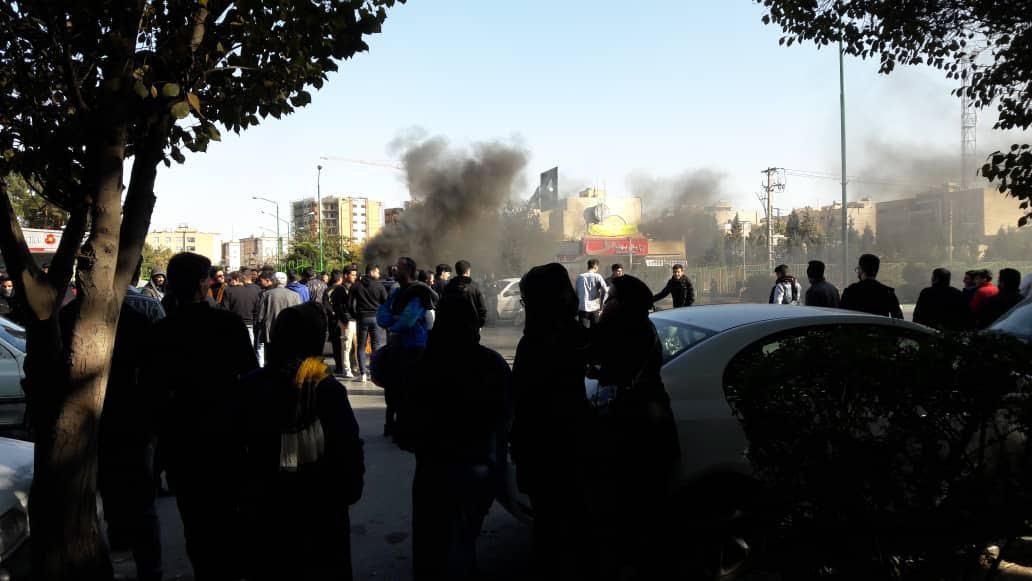 Anti-government protesters in Iran, 2019. Photo courtesy of Nicolas Garon.