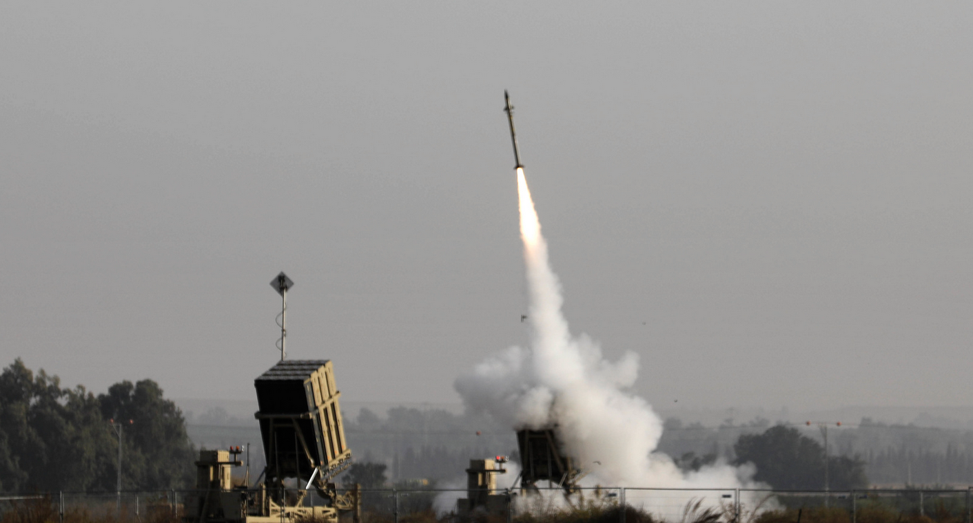 An Israeli missile designed to intercept rockets and artillery shells is launched in November 2019. Photo courtesy of AFP.