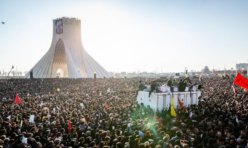 Funeral of Qasem Soleimani, Tehran, Iran on 6 January 2020. Photo courtesy of Mehr News Agency.