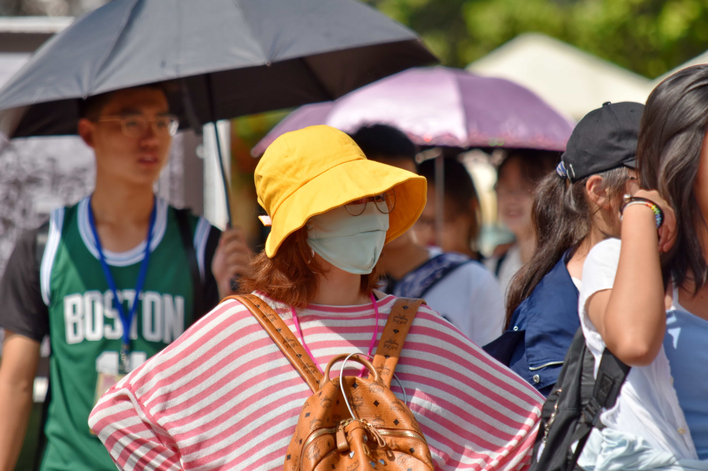 Woman in a face mask. Photo courtesy of Bicanski.