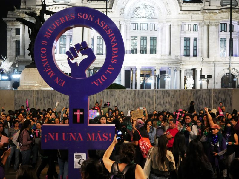 """""""In Mexico, 9 women are murdered each day. Not one more!"""" Photo courtesy of Thayne Tuason."""