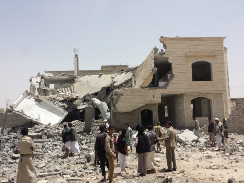 A destroyed house after an airstrike in Yemen. Photo courtesy of Mr. Ibrahem.