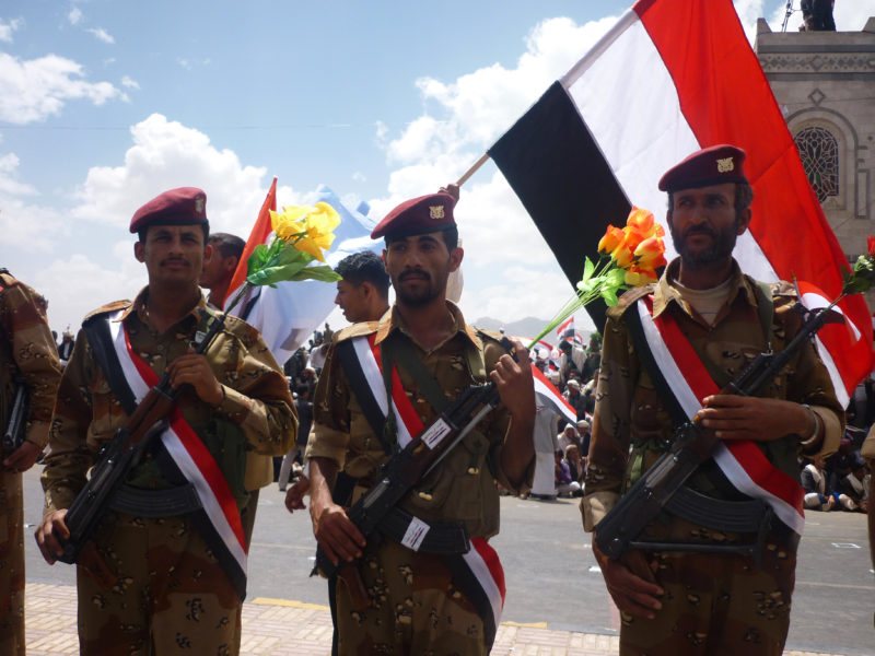 Yemeni soldiers. Photo courtesy of Ibrahem Qasim.