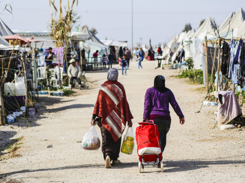 Syrian refugees in a displaced persons camp in Turkey. Photo courtesy of the European Parliament.