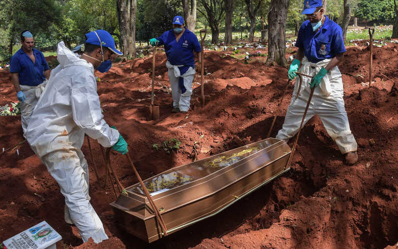 Burying the dead in Brazil